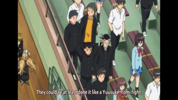 I JUST noticed that Yusuke and Yomi are actually in this scene.