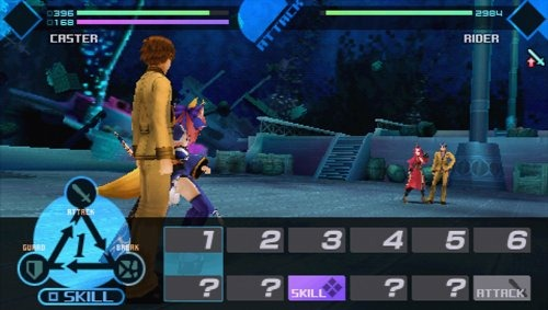 Fate Extra Gameplay