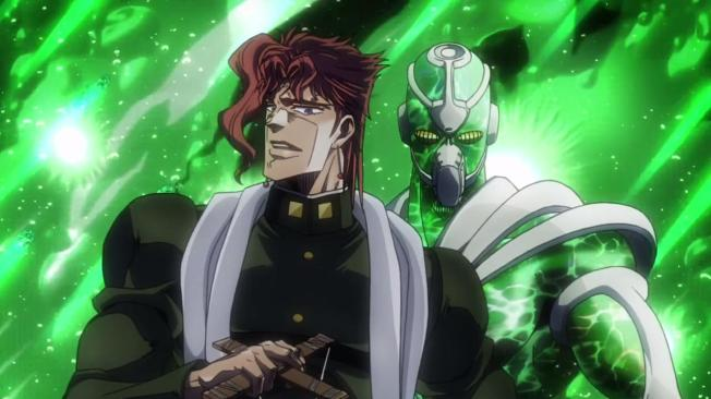 JJBA Stardust Crusaders- Kakyoin and Hierophant Green