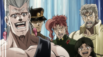 Jojo's Bizarre Adventure Part 3: Stardust Crusaders Episode 13- The Dukes of Fortune